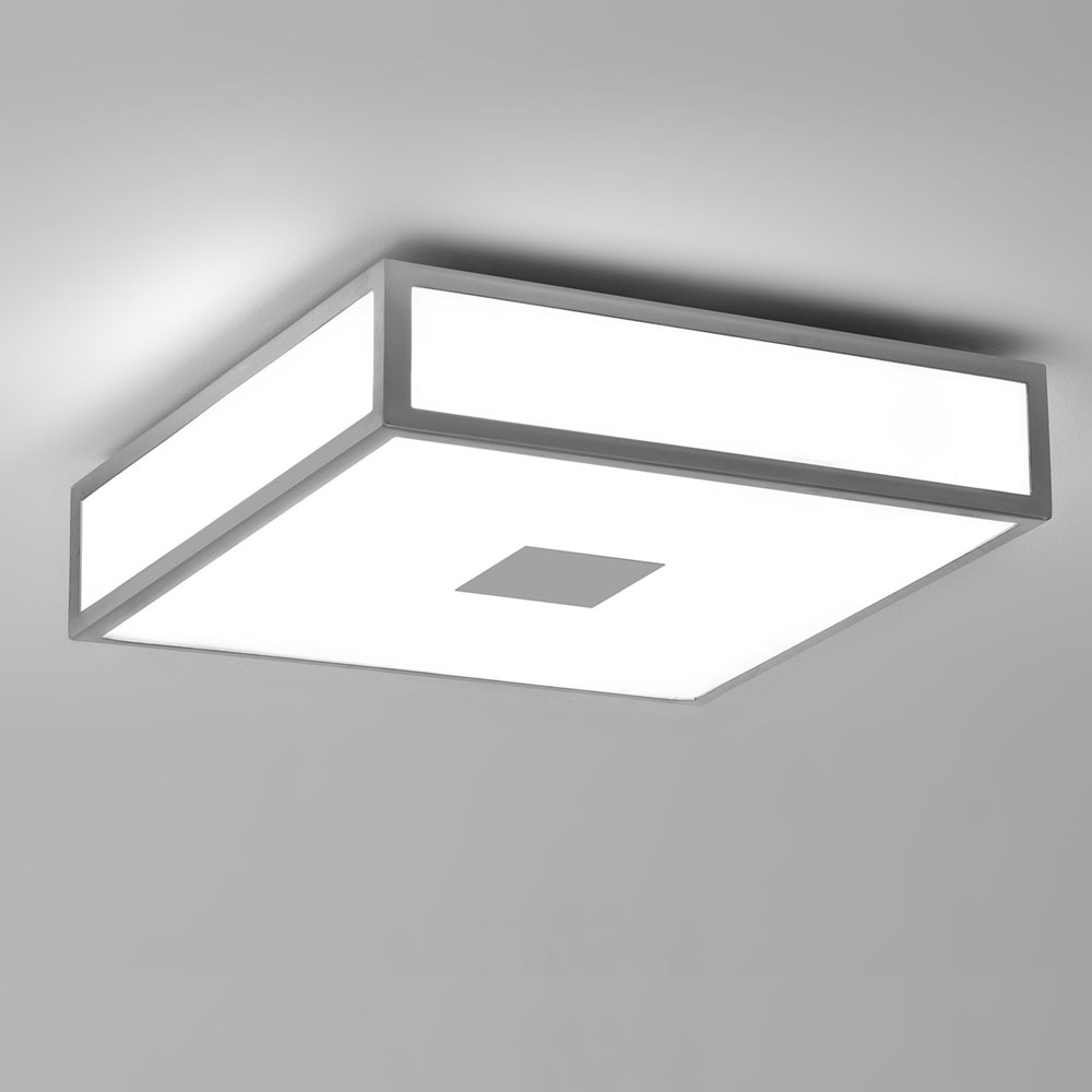 Mashiko Square 300 Chrome Ceiling Light